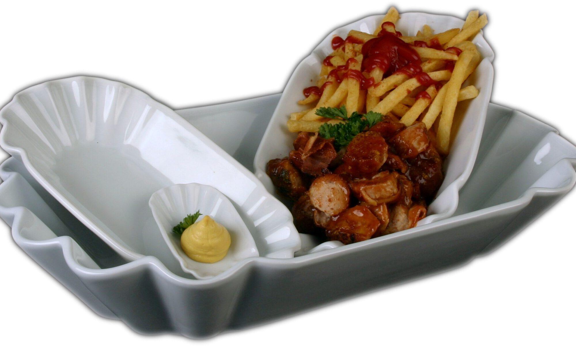 Currywurstschalen by Holst Porzellan